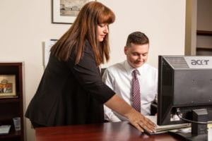 Danielle Nocito and Matthew Nocito working on Social Security Disability claims